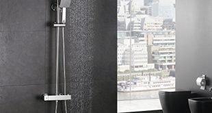 51mJjVX+krL 310x165 - Homelody Duschsystem mit Thermostat Regendusche Duschset Duschsäule Dusche Duscharmatur Brausethermostat Shower inkl. Verstellbar Duschstange Kopfbrause Handbrause